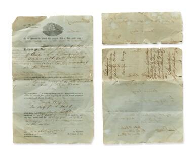 View 5. Thumbnail of Lot 1. A Very Fine and Rare Whalebone Scrimshaw Wall Pocket, Nantucket, Massachusetts, Circa 1870.
