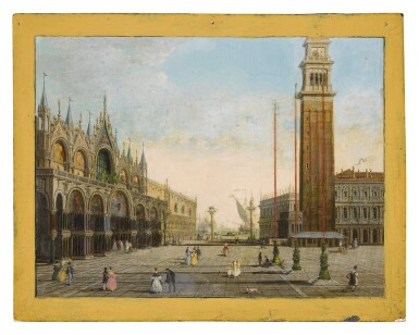 View 1. Thumbnail of Lot 653. View of St. Mark's Square with the Piazzetta and San Giorgio Maggiore in the background.