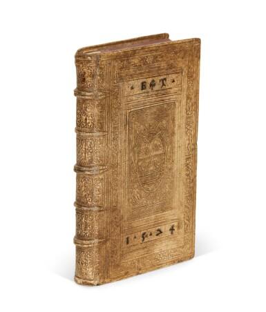 View 1. Thumbnail of Lot 232. Serres, II. Partis commentariorum de statu religionis, [Geneva], 1573, pigskin binding by Thomas Krüger.