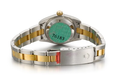 View 3. Thumbnail of Lot 23. ROLEX | OYSTER PERPETUAL, REFERENCE 76183, STAINLESS STEEL AND YELLOW GOLD WRISTWATCH WITH BRACELET, CIRCA 2002.