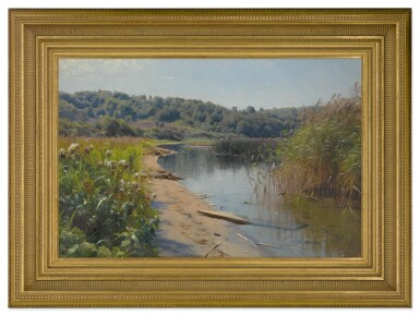 View 2. Thumbnail of Lot 12. PEDER MØNSTED     SUMMER REFLECTIONS ON A LAKE, SILKEBORG .