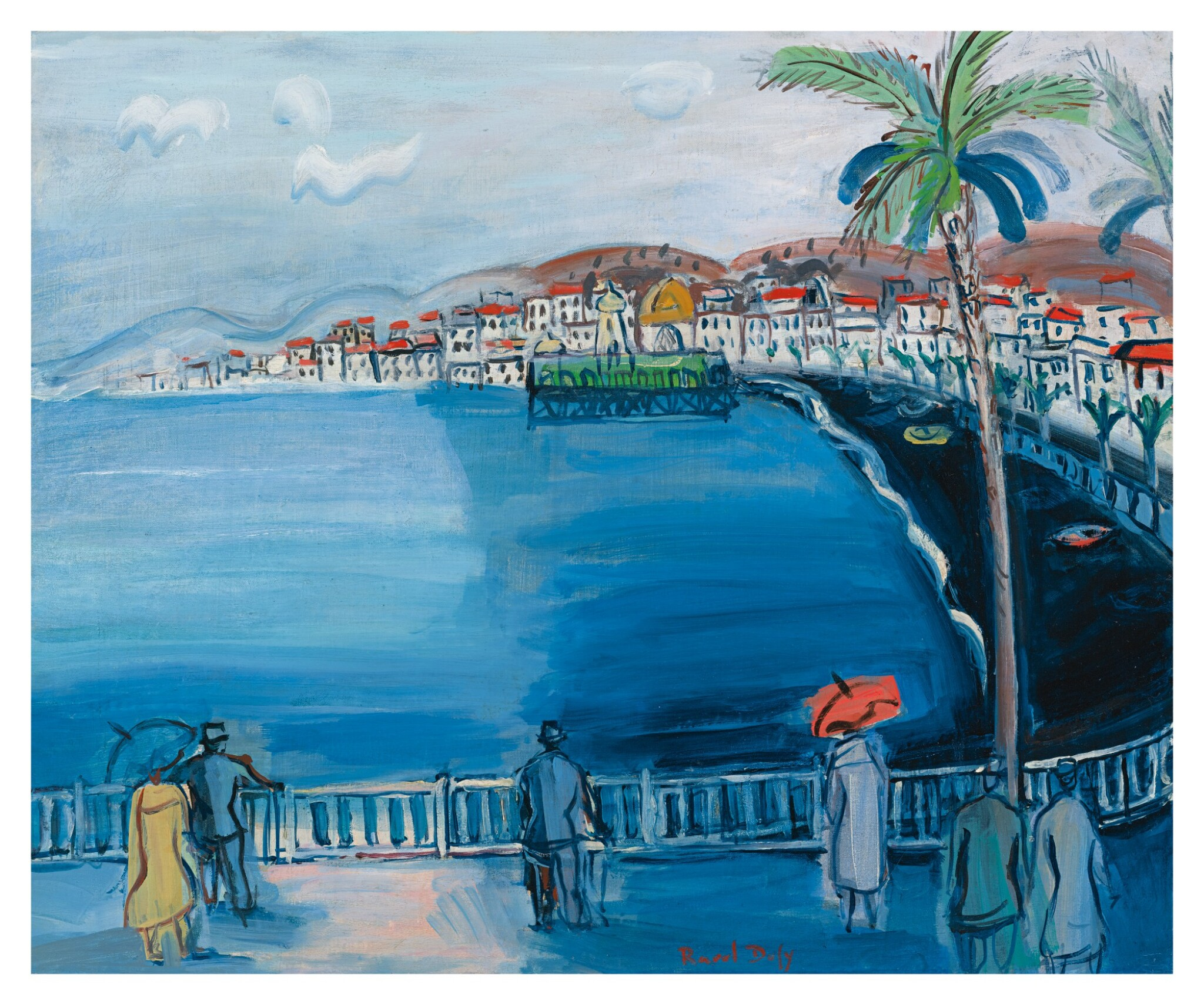 View full screen - View 1 of Lot 24. RAOUL DUFY | NICE, LA BAIE DES ANGES.