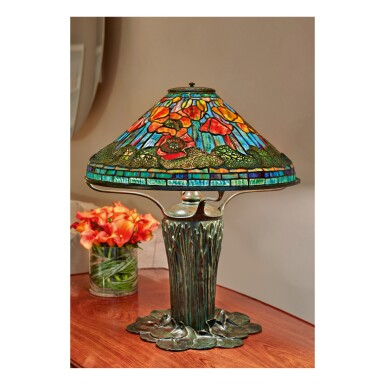 """View 1. Thumbnail of Lot 54. """"Poppy"""" Table Lamp."""