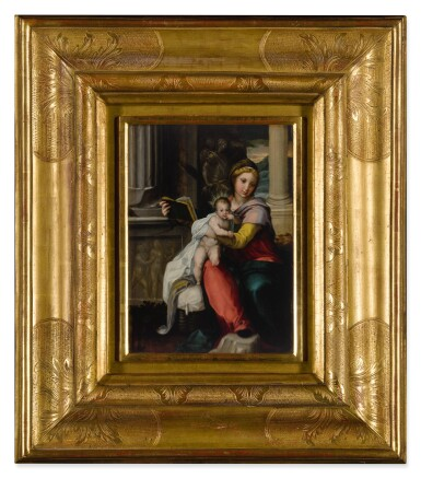 View 2. Thumbnail of Lot 565. Madonna and Child with a book.
