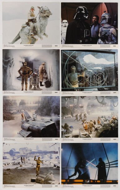 THE EMPIRE STRIKES BACK, SET OF 8 LOBBY CARDS, US, 1980