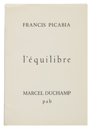 View 1. Thumbnail of Lot 12. L'ÉQUILIBRE. [ALÈS (GARD):] P. A. B., AUGUST 1958.