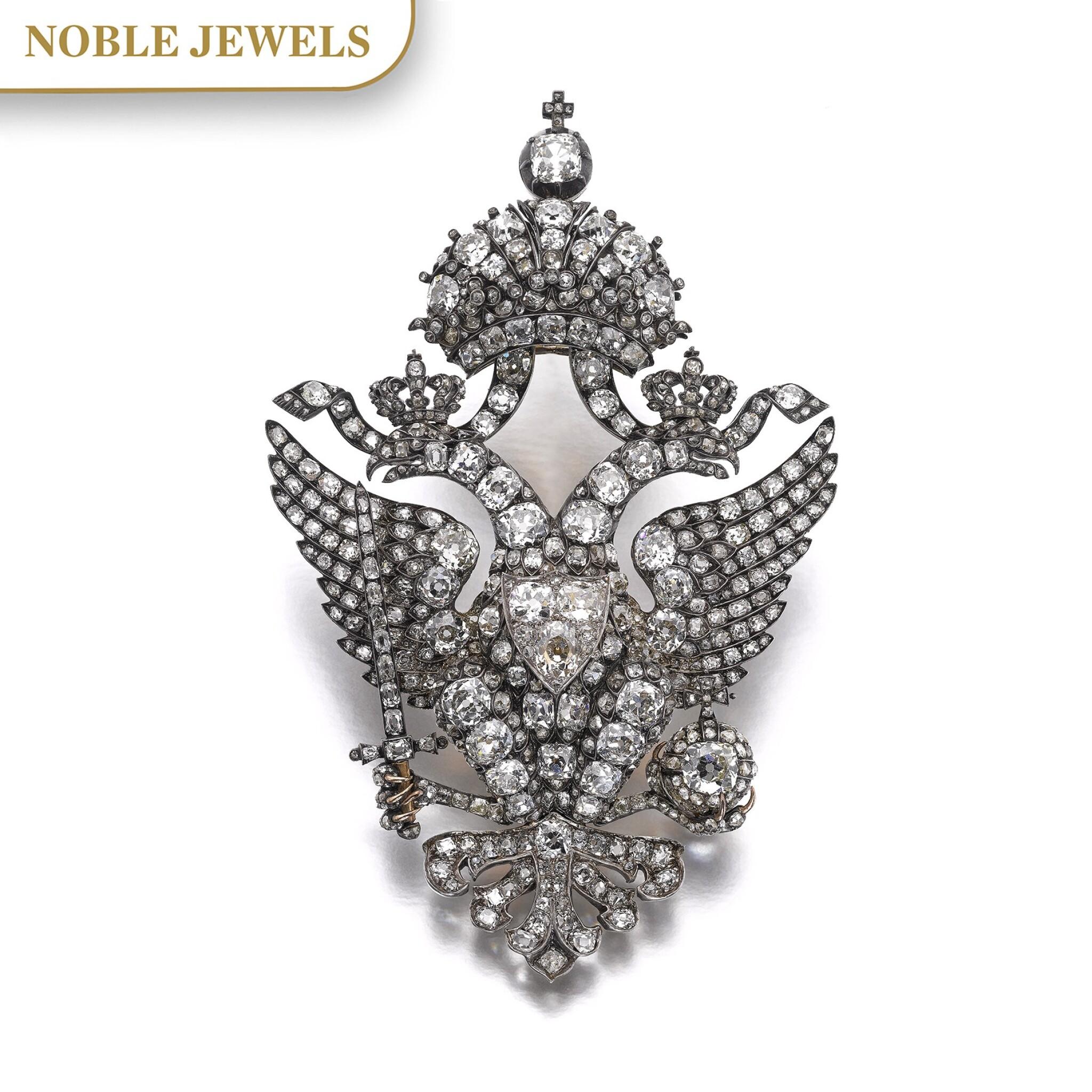 View full screen - View 1 of Lot 166. Important diamond brooch, late 19th century | 鑽石別針,十九世紀末.