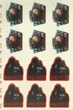 RETURN OF THE JEDI, 2 SHEETS OF UNCUT IRON-ON STICKER SHEETS, US, 1983