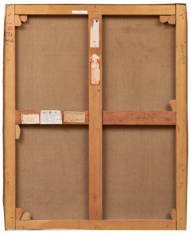 View 2. Thumbnail of Lot 2. Tout rose (peinture rectangulaire représentant un carré perspectiviste qui a la rougeolle), 1955.