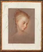 FRENCH SCHOOL, 18TH CENTURY [ECOLE FRANÇAISE DU XVIIIE SIÈCLE]     TROMPE-L'ŒIL WITH A DRAWING OF A YOUNG LADY [TROMPE-L'ŒIL AU DESSIN D'UN PORTRAIT DE JEUNE FILLE]