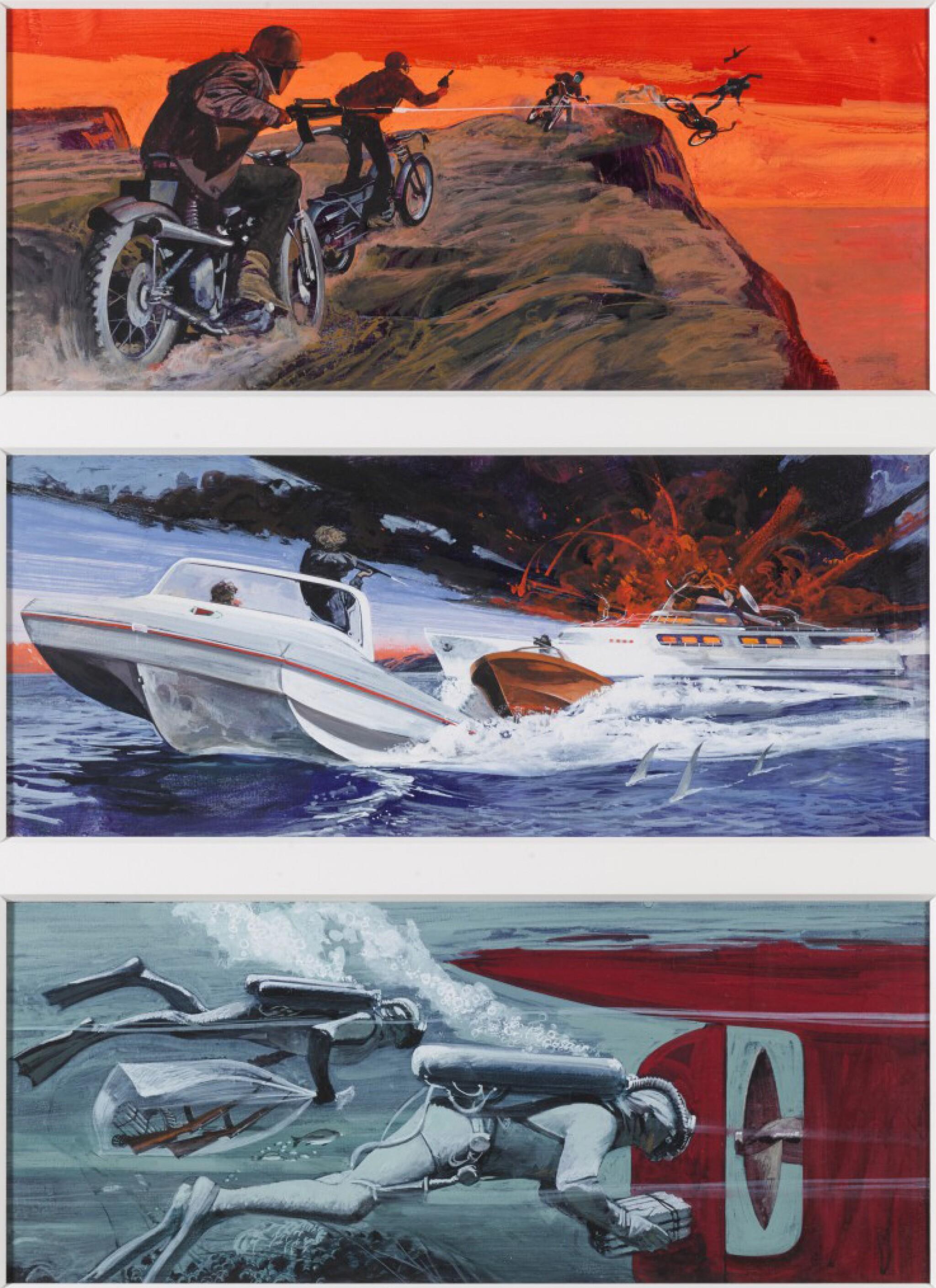 View full screen - View 1 of Lot 28. The Mechanic (1972), US, Original storyboard artwork .