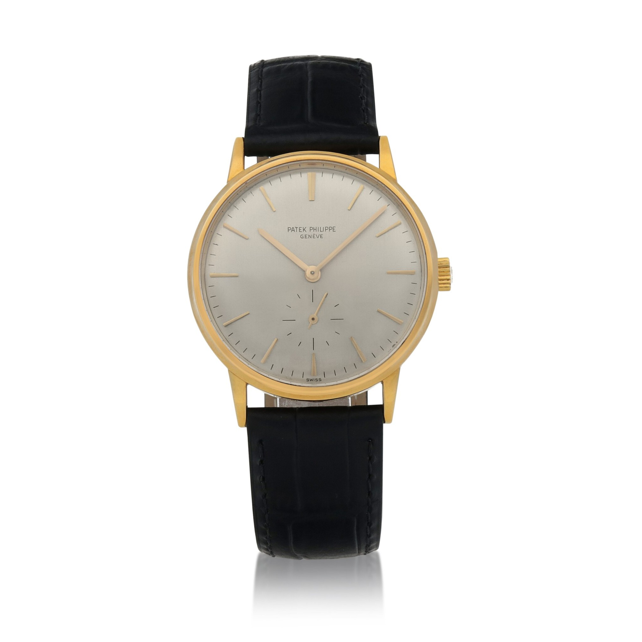 View full screen - View 1 of Lot 84. Ref. 3561 Yellow gold wristwatch Made in 1968 | 百達翡麗 3561型號黃金腕錶,1968年製.