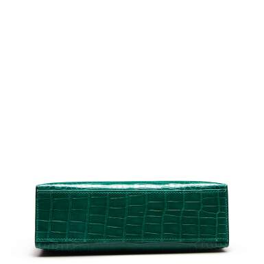 View 6. Thumbnail of Lot 71. Cactus Kelly Pochette in Shiny Alligator Mississippiensis with Gold Hardware, 2012.