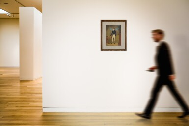 View 5. Thumbnail of Lot 164. Portrait of a Young Man, Standing by a Desk in an Interior.