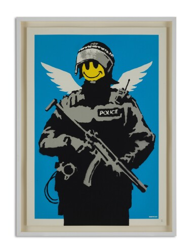 View 2. Thumbnail of Lot 9037. 班克斯 Banksy | 飛行警察 Flying Copper .