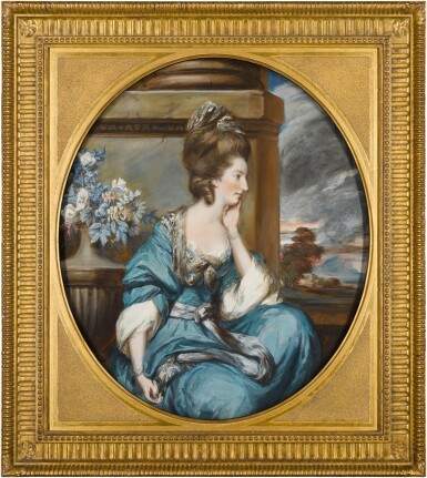 View 3. Thumbnail of Lot 38. DANIEL GARDNER     PORTRAITS OF THE HON. MARY SHUTTLEWORTH (D. 1777); AND HER SISTER, ANNA MARIA, SUO JURE 9TH BARONESS FORRESTER (D. 1808).