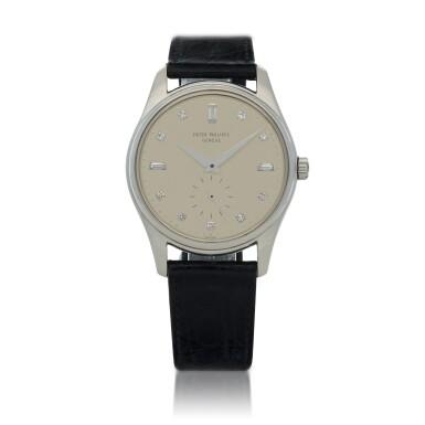 View 1. Thumbnail of Lot 78. Ref. 2526P Platinum and diamond-set wristwatch Made in 1954 | 百達翡麗 2526P型號鉑金鑲鑽石腕錶,1954年製.