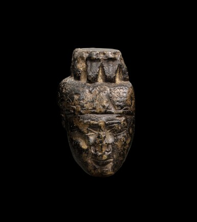 View 1. Thumbnail of Lot 48. A Fragmentary Egyptian Granite Head of Isis, Late Period, 716-30 B.C..