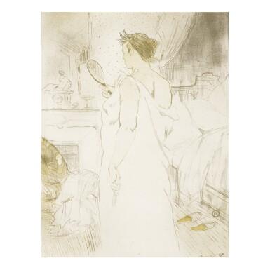 HENRI DE TOULOUSE-LAUTREC   FEMME À GLACE - LA GLACE À MAIN (D. 185; ADR. 177; W. 161)