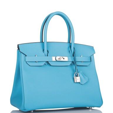 View 2. Thumbnail of Lot 63. Hermès Bleu Du Nord Birkin 30cm of Epsom Leather with Palladium Hardware.