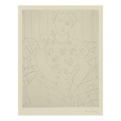 View 1. Thumbnail of Lot 111. HENRI MATISSE | JEUNE FEMME AU CORSAGE FLEURI (DUTHUIT 259).