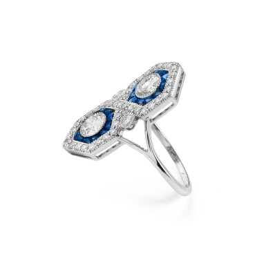 Sapphire and diamond ring [Bague saphirs et diamants]
