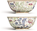 A PAIR OF FAMILLE-ROSE 'PHOENIX' BOWLS GUANGXU MARKS AND PERIOD | 清光緒 粉彩穿花夔鳳紋盌一對 《大清光緒年製》款