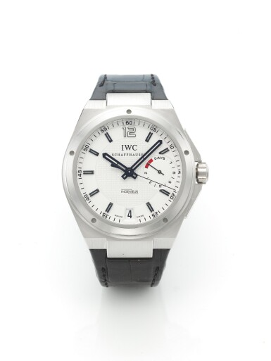 IWC | INGENIEUR, A LIMITED EDITION PLATINUM AUTOMATIC CENTER SECONDS WRISTWATCH WITH DATE AND POWER RESERVE INDICATION CIRCA 2010