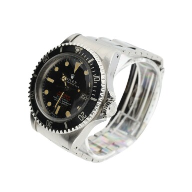 View 3. Thumbnail of Lot 6. ROLEX | REFERENCE 1665 DOUBLE RED SEA-DWELLER  A STAINLESS STEEL AUTOMATIC WRISTWATCH WITH DATE AND BRACELET, CIRCA 1971.