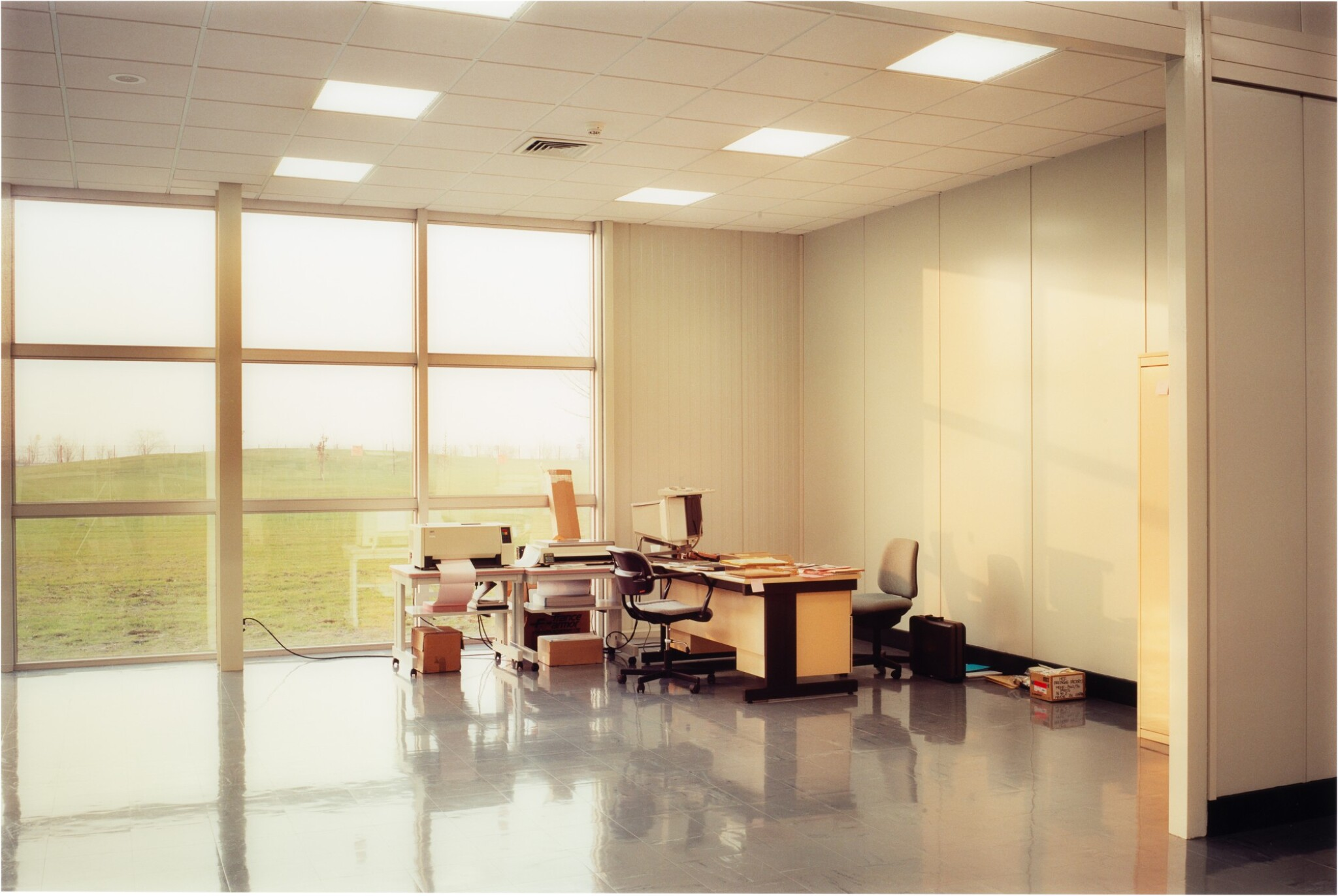View full screen - View 1 of Lot 78. LEWIS BALTZ   'UNOCCUPIED OFFICE', MITSUBISHI, VITRE, FRANCE, 1989-1991.