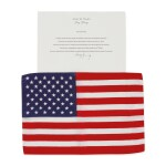 [APOLLO 16]. FLOWN ON APOLLO 16. LARGE UNITED STATES OF AMERICA FLAG FROM THE COLLECTION OF JOHN YOUNG