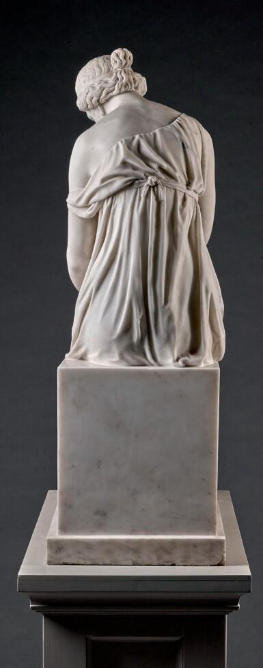 JOHANN HEINRICH VON DANNECKER (1758-1841), GERMAN, STUTTGART, DATED 1836 | MÄDCHEN MIT DEM TOTEN VOGEL (LESBIA AND HER SPARROW)