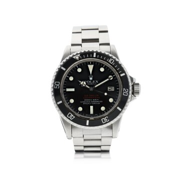 View 1. Thumbnail of Lot 87. ROLEX | REFERENCE 1665 DOUBLE RED SEA DWELLER   A STAINLESS STEEL AUTOMATIC WRISTWATCH WITH DATE AND BRACELET, CIRCA 1972.