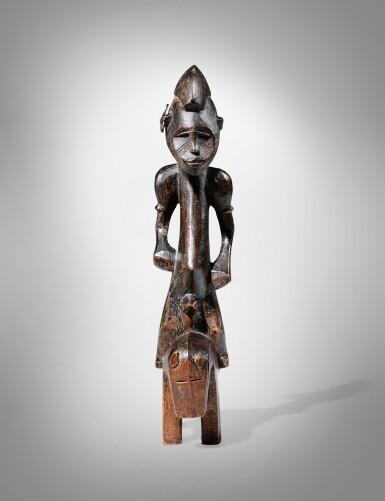 View 2. Thumbnail of Lot 61. Senufo Equestrian Figure, Côte d'Ivoire.