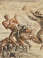 JOHN STEUART CURRY | UNTITLED (TOUCHDOWN HERO)