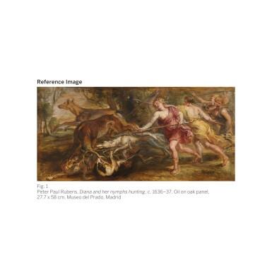 View 2. Thumbnail of Lot 19. STUDIO OF SIR PETER PAUL RUBENS   Diana and her nymphs hunting   彼得・保羅・魯本斯爵士畫室   《狩獵中的女神黛安娜與仙女》.