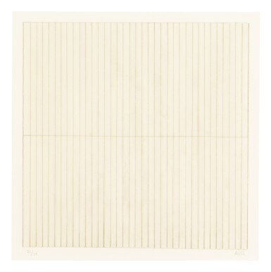 View 4. Thumbnail of Lot 63. AGNES MARTIN    UNTITLED.