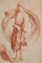 ATTRIBUTED TO EDMÉ BOUCHARDON | Study of a craftsman carrying his tools
