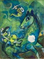 Marc Chagall 馬克・夏加爾   Le cheval à la lune 駿馬奔月