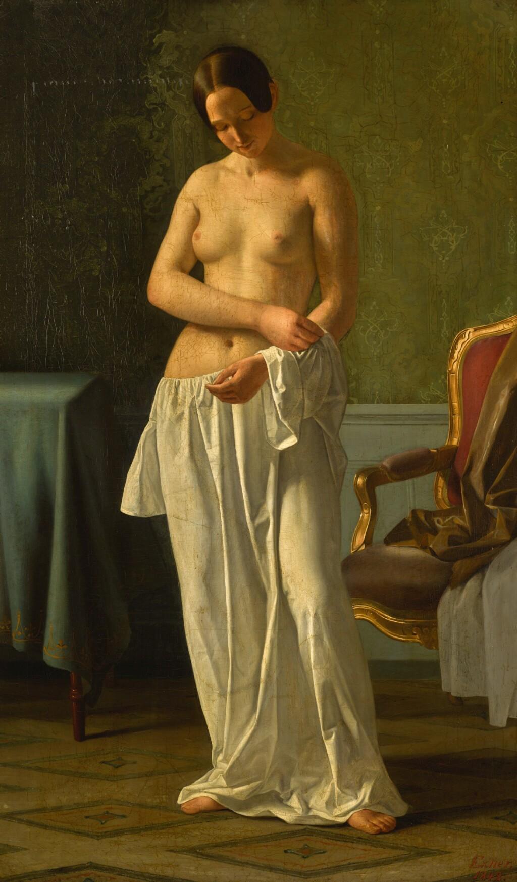 JOHAN JULIUS EXNER | The Artist's Model