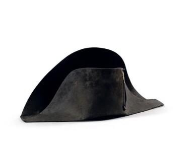 """View 4. Thumbnail of Lot 33. The legendary """"à la française"""" hat of Emperor Napoleon I, worn during his campaign in Pologne (1807)   Légendaire chapeau de l'empereur Napoléon Ier, de forme traditionnelle dite à la française, porté durant la campagne de Pologne (1807).."""