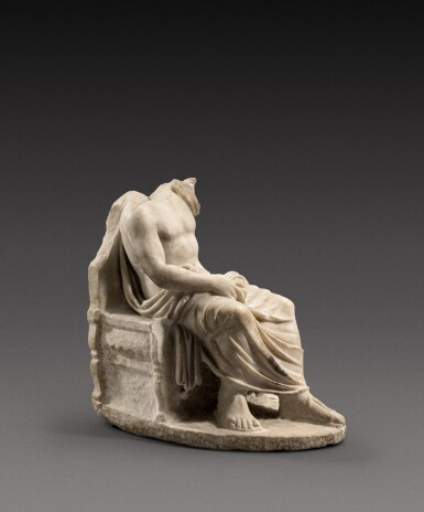 View 4. Thumbnail of Lot 65. A Roman Marble Figure of Zeus, circa 2nd Century A.D..