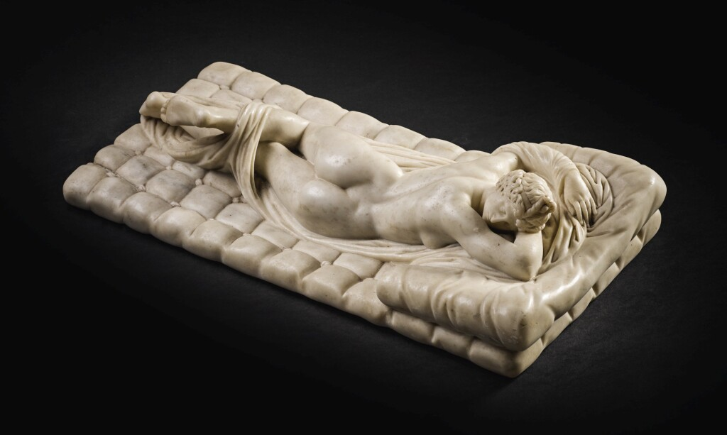 ITALIAN OR FRENCH, 19TH CENTURY, AFTER THE ANTIQUE | SLEEPING HERMAPHRODITE