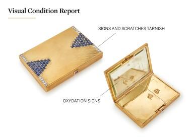 SAPPHIRE AND DIAMOND VANITY CASE (PORTACIPRIA CON ZAFFIRI E DIAMANTI)