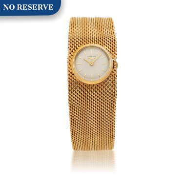 LONGINES | YELLOW GOLD BRACELET WATCH CIRCA 1970