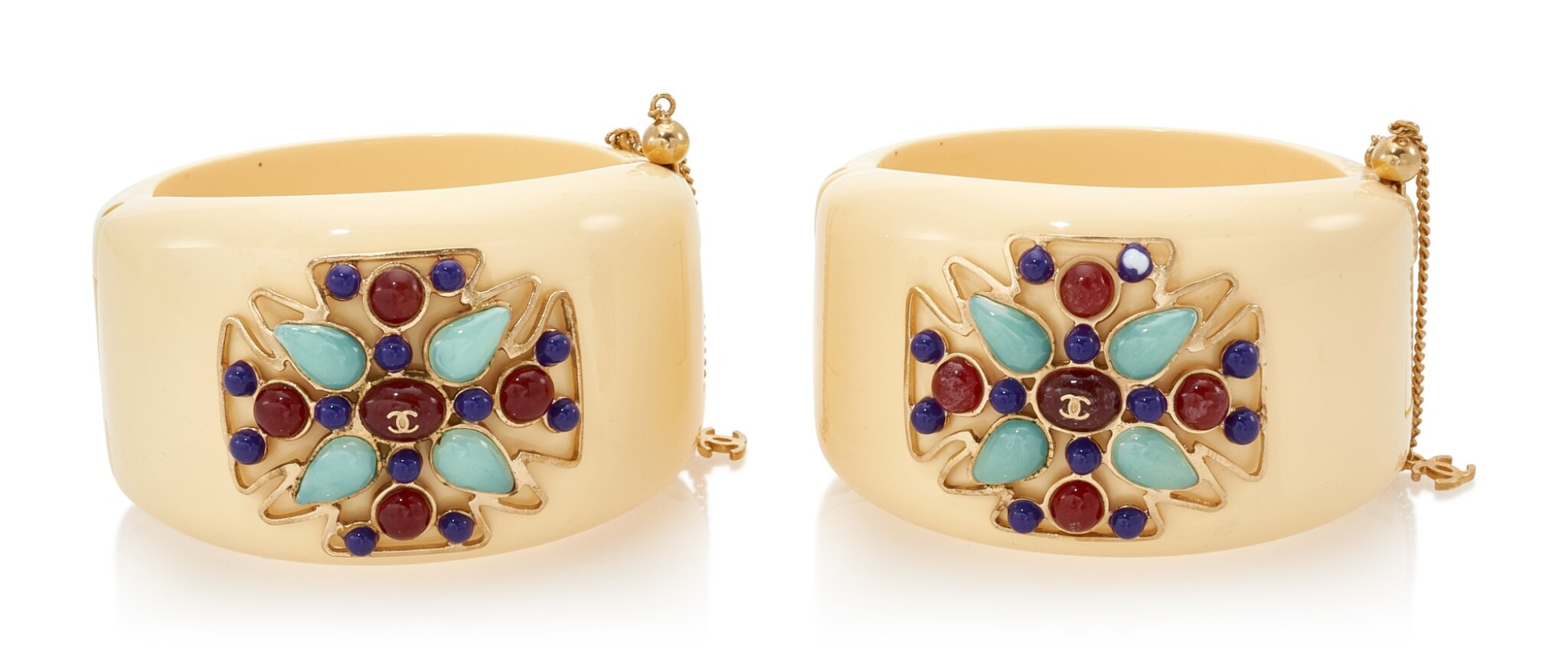 View full screen - View 1 of Lot 133. PAIR OF CUFFS , CHANEL.