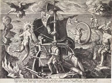 AFTER JAN VAN DER STRAET, CALLED STRADANUS | THE DISCOVERY OF AMERICA (AMERICAE RETECTIO) (NEW HOLL. 342-345)