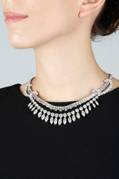 View 4. Thumbnail of Lot 63. DIAMOND NECKLACE, 1950S.