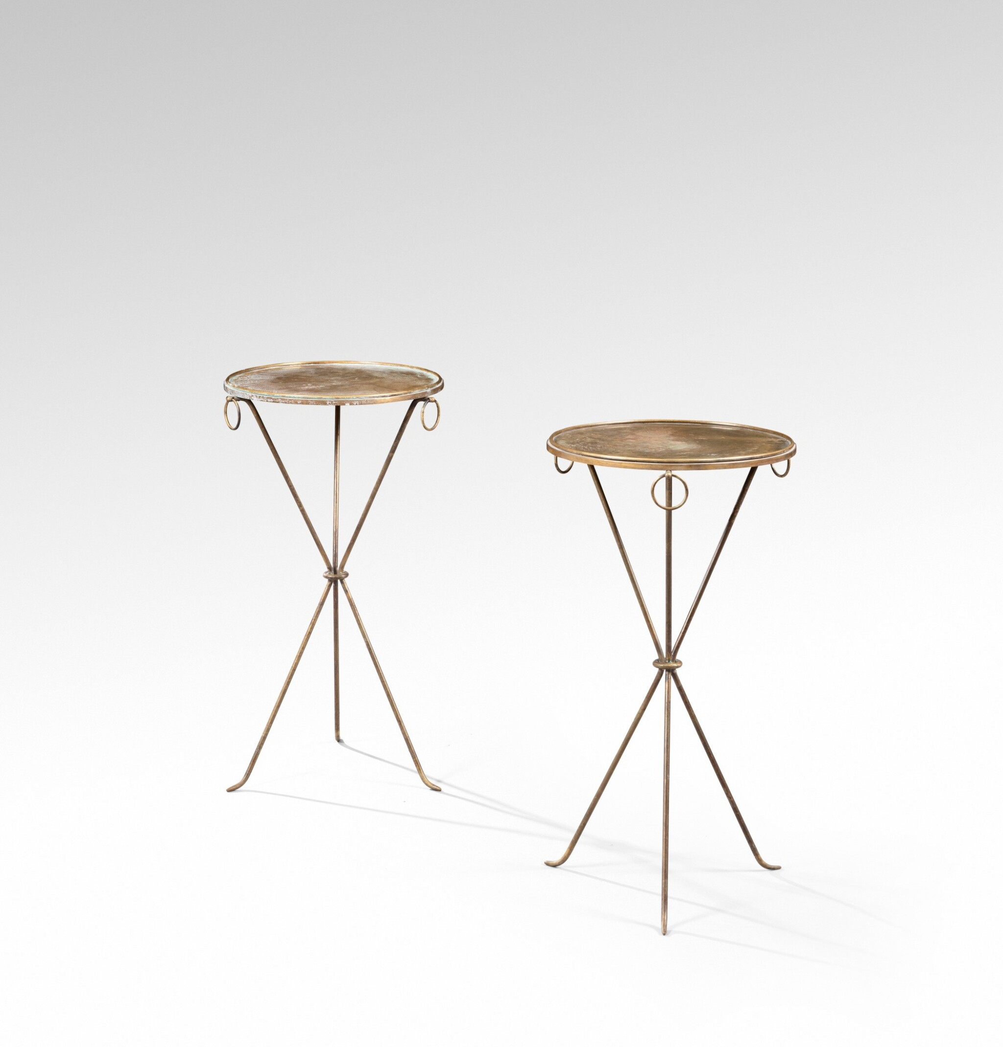 View full screen - View 1 of Lot 14. JEAN-MICHEL FRANK | PAIR OF OCCASIONAL TABLES, CIRCA 1939 [PAIRE DE GUÉRIDONS, VERS 1939].
