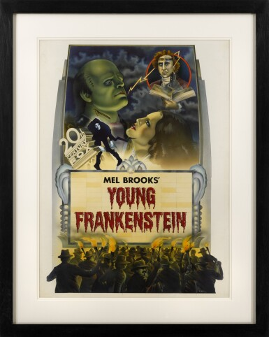 YOUNG FRANKENSTEIN (1974) ORIGINAL STUDIO CONCEPT ARTWORK, US